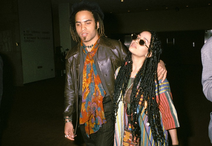 Lisa Bonet and Lenny Kravitz celebrity exes