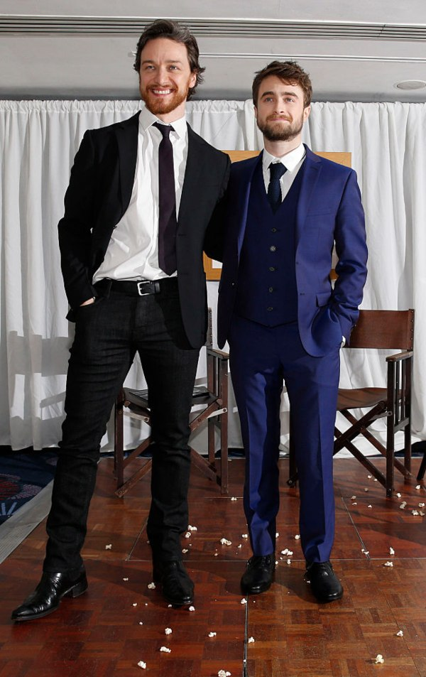 Daniel Radcliffe, James McAvoy, shortest men