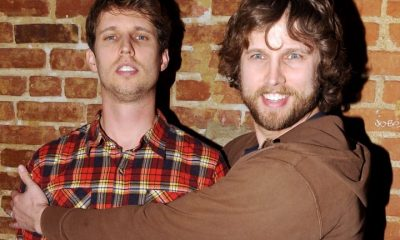 Actors Jon Heder (L) and Dan Heder attend HBO's Season 3 Premiere Of