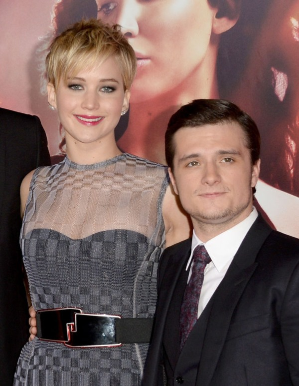 Josh Hutcherson, Jennifer Lawrence, shortest men