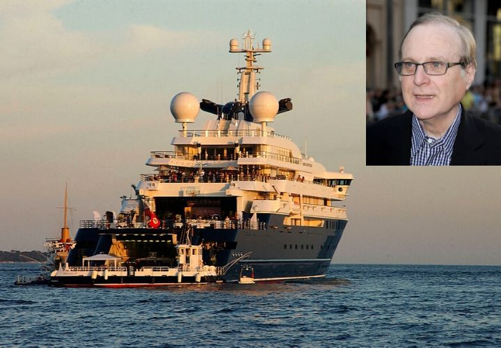 Paul Allen, celebrity yachts