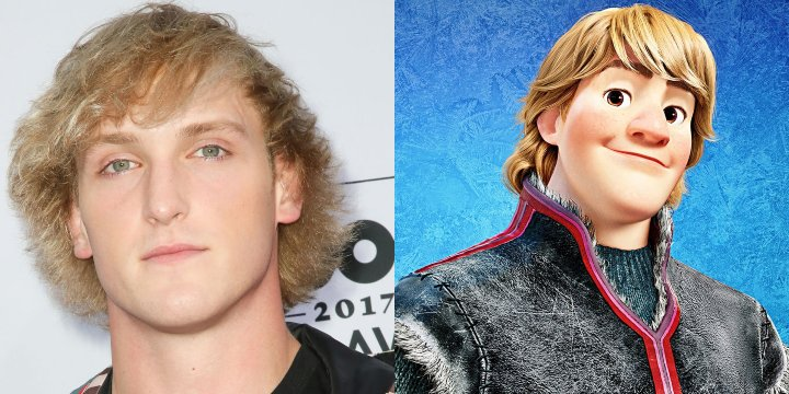 Logan Paul cartoon doppelganger