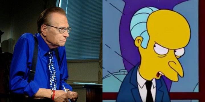 Larry King cartoon doppelganger