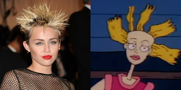 Miley Cyrus cynthia rugrats cartoon doppelganger