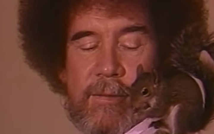 The Joy of Painting, Bob Ross and squirrel
