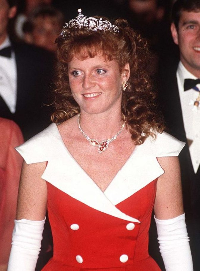 Duchess of York wearing York Diamond Tiara