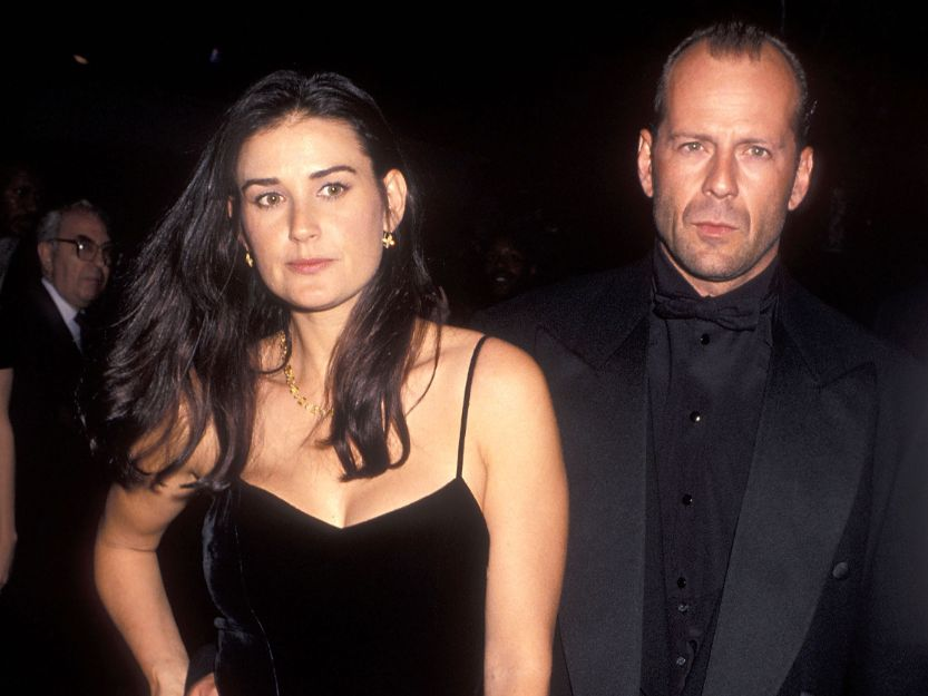 Demi Moore and Bruce Willis at premiere of Pulp Fiction