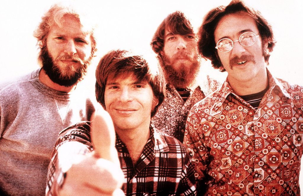 Creedence Clearwater Revival, portrait, c 1970.
